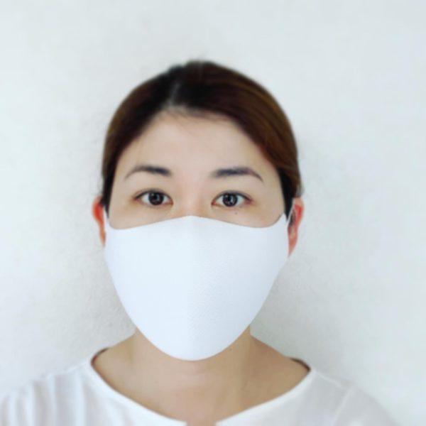 立体マスク着用